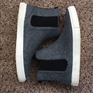 Men's Felt Chelsea Sneakers (Grey)